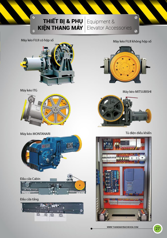 thiết bị và phụ kiện thang máy
